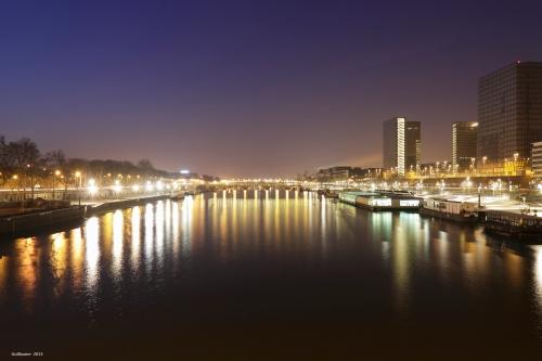 La Seine vue du pont de Bercy