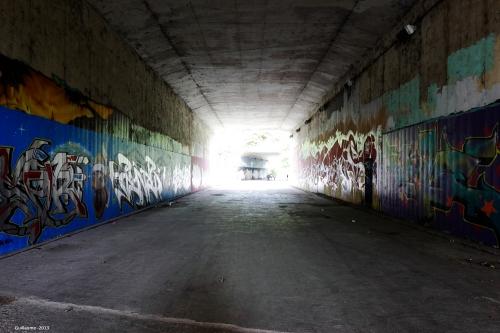 Le tunnel principal.